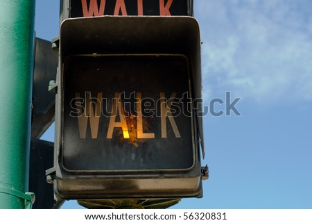Walk sign - stock photo
