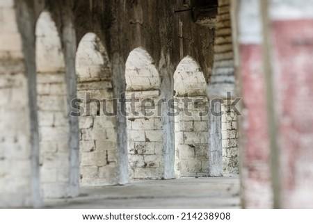 Walk way in rome - stock photo