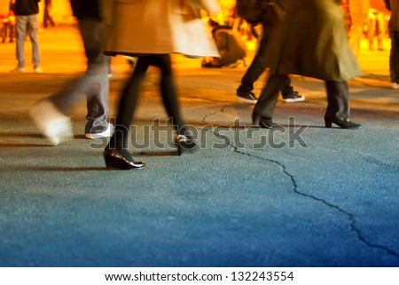 walking - stock photo