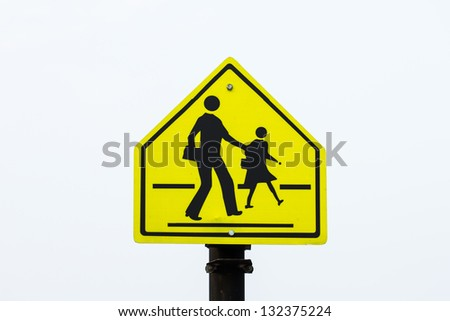 Walking across the street signs. - stock photo