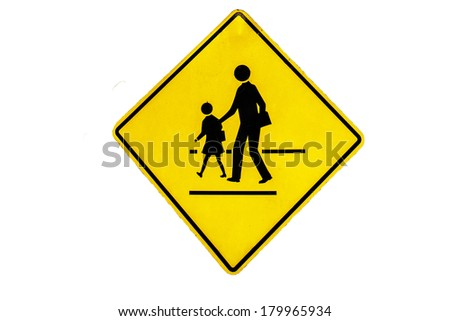 Walking across the street signs - stock photo