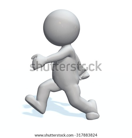 walking - 3D People isolated