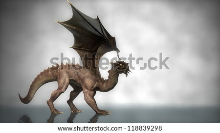 walking dragon - stock photo