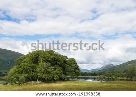 Walking in the fantastic golf in Scotland - stock photo