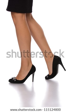 Walking legs of a business woman