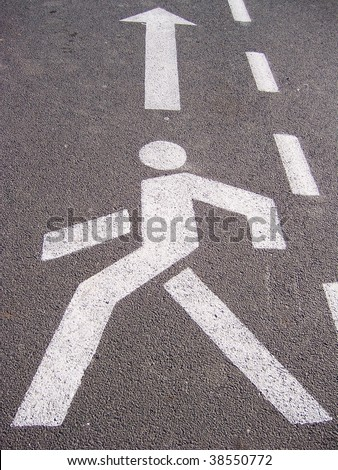 walking man sign