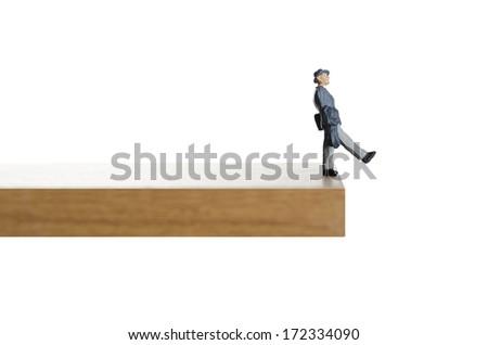 Walking on the edge.  - stock photo