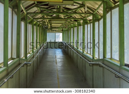 Walking on the overpass background. - stock photo