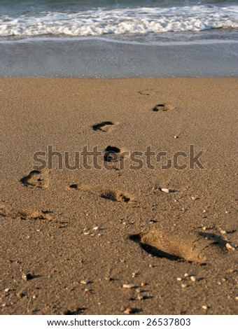 Walking on the sea. - stock photo