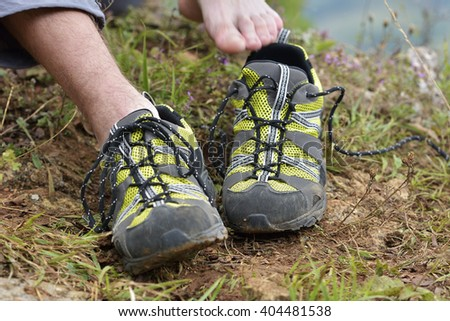 Walking shoes. All terrain shoes