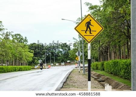 Walking sign  - stock photo