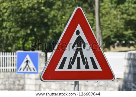 Walking street signs - stock photo