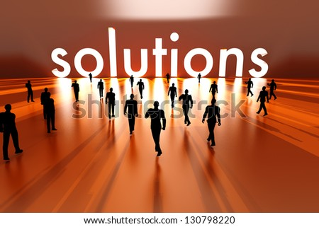 Walking towards the business solution. 3D rendered Illustration. - stock photo