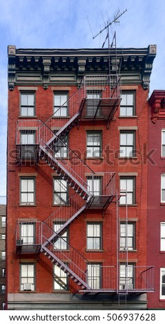 Walkup apartment building in Greenwich Village in New York City.