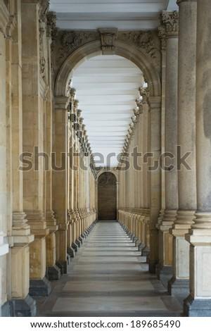 Walkway arch style - stock photo