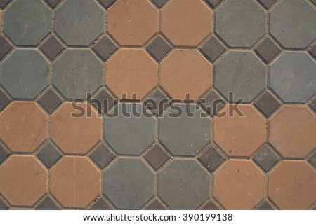 walkway brick - stock photo