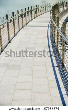 Walkway floor - stock photo