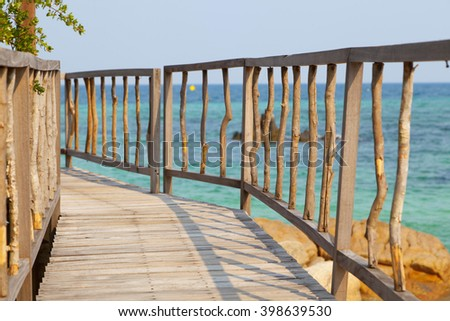 Walkway, Pier by the beach