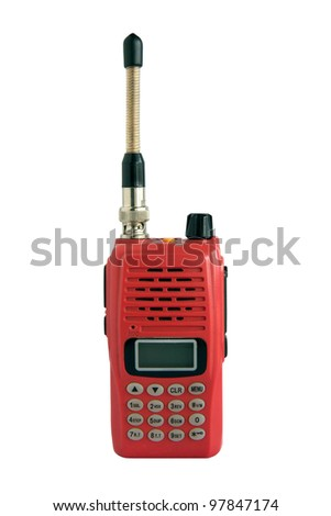 walky-talky, Radio communication in white background - stock photo