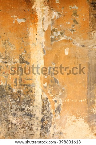 Wall abstract - on old wall in Tuscany, Italy