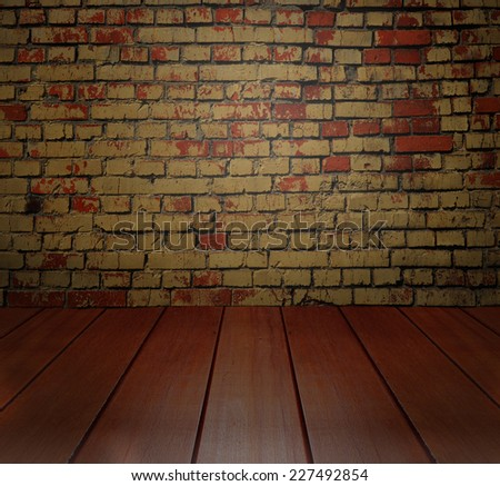 wall and perspective wood floor background
