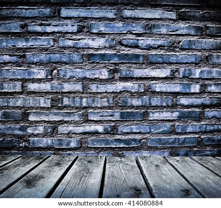 wall and wood - stock photo