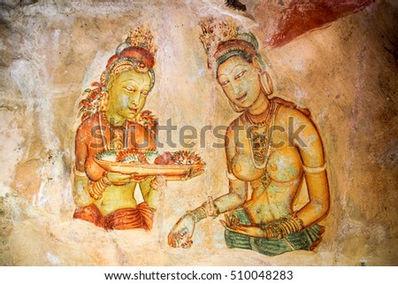 Wall Art Sigiriya Ancient Rock Fortress Stock Photo (Download Now ...