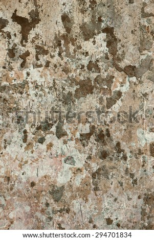 Wall background texture cement peels patches grunge stained rugged look - stock photo