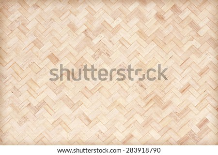 wall bamboo woven pattern for background - stock photo