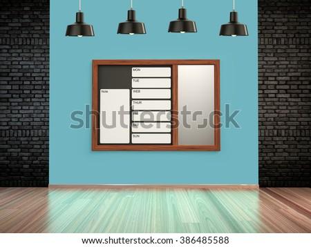 Wall calendar. Schedule memo management organizer concept. - stock photo