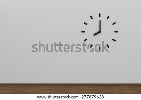 wall clock - stock photo