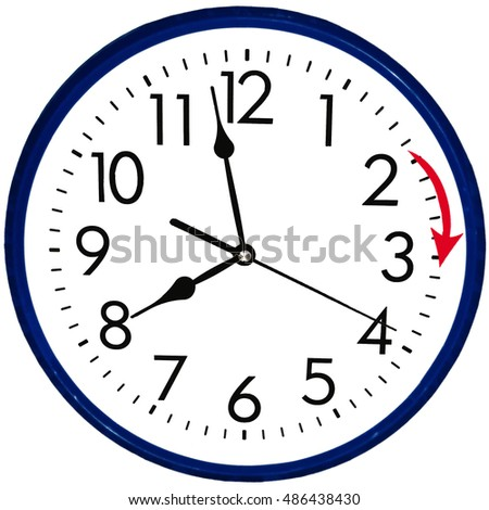 Wall Clock goint to summer time