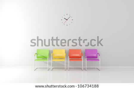 Wall clock in waiting room