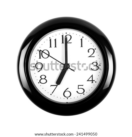 Wall Clock isolated on a white background - stock photo