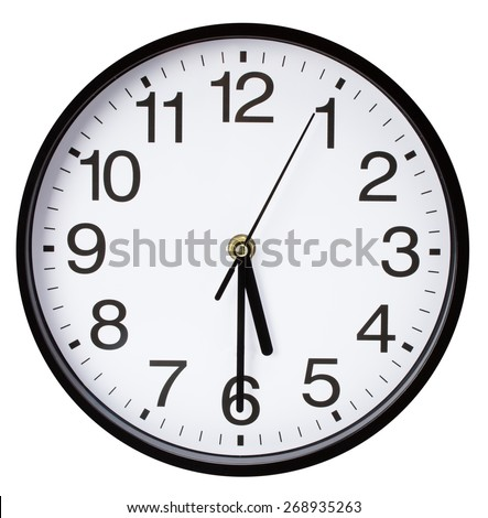wall clock isolated on a white background
