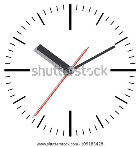 Wall clock. Vector illustration. - stock photo