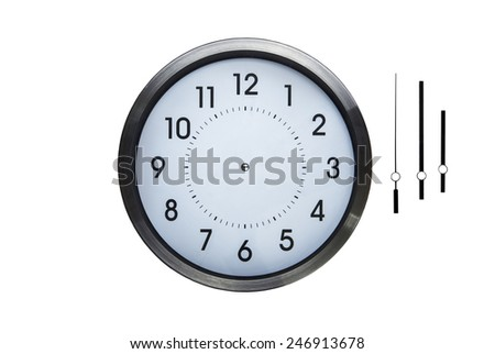 wall clock without hands so you can make up what ever time you want on clock - stock photo