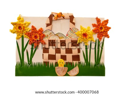 wall collage decoration for a child's nursery