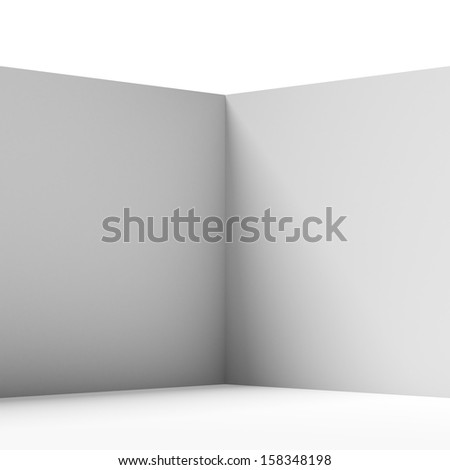 wall corner isolated - stock photo