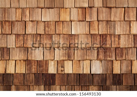 wall covered by wooden tile, texture - stock photo