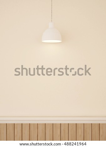 wall decoration and pendent lamp for artwork-3D rendering