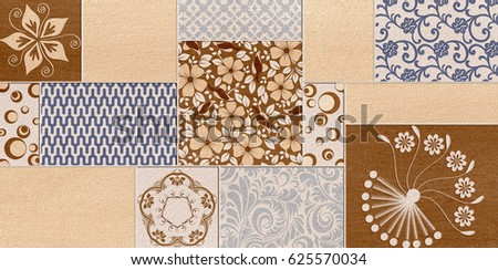 Floor tiles pattern design