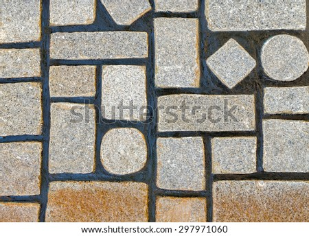 wall geometry stone texture background - stock photo