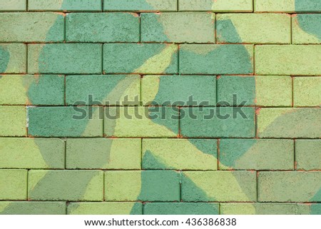 wall green camouflage army for background - stock photo
