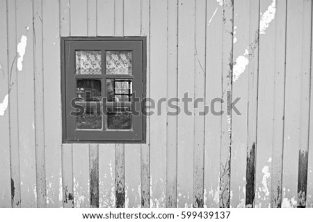 Wall House Background and Texture With Window