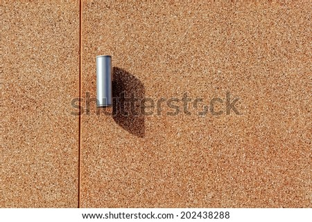 Wall Light with Shadow on Brown Concrete Wall - stock photo
