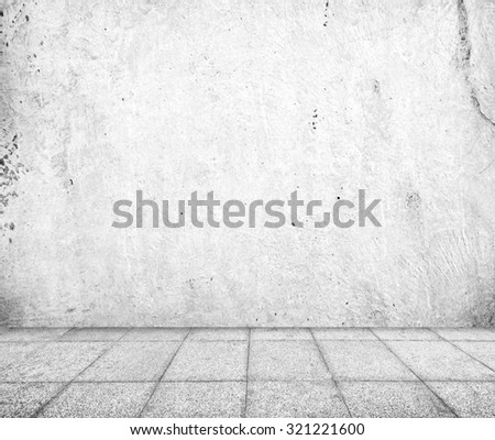 Wall made of concrete and floor from stone