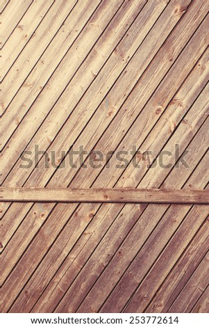 Wall made of Wooden Planks - stock photo