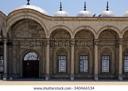 Wall of a mosque in Cairo, Egypt. - stock photo