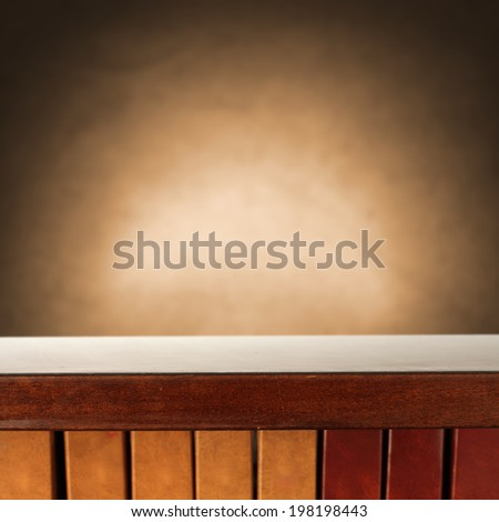 wall of brown and book